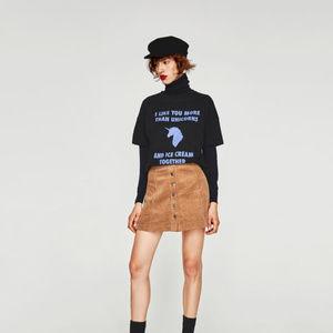 [SOLD]NWT Zara Size S Unicorn Slogan Tee